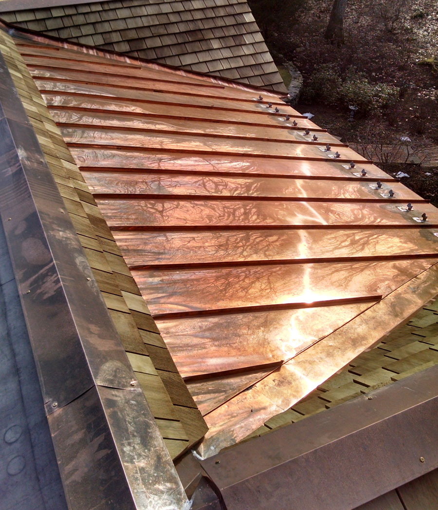 Copper Roofing Flashing Amp Gutter Work Robert Green Roofing
